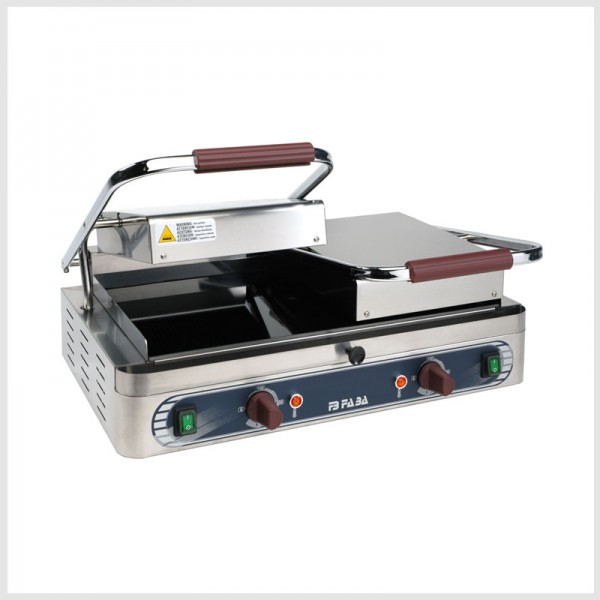 Electric ceramic glass contact double grill – DVL
