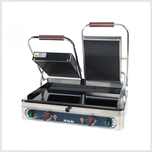 Electric ceramic glass contact double grill – DVR